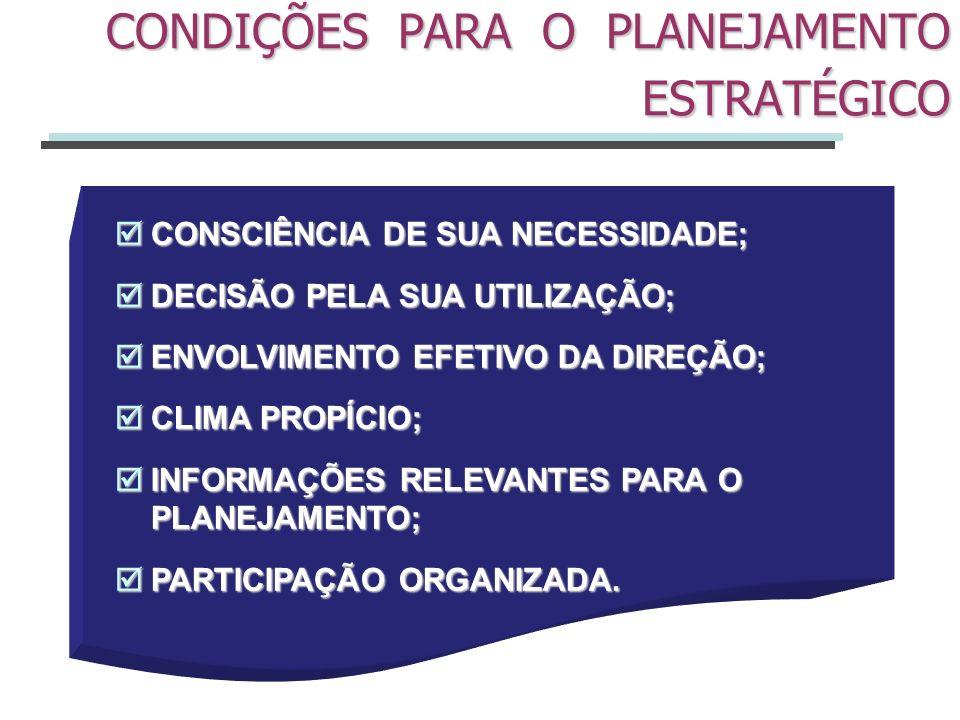 Processo desenvolvido para o alcance de uma situação desejada de um modo mais eficiente, eficaz e efetivo, com a melhor concentração de esforços e recursos pela empresa (Oliveira, 2001:33).