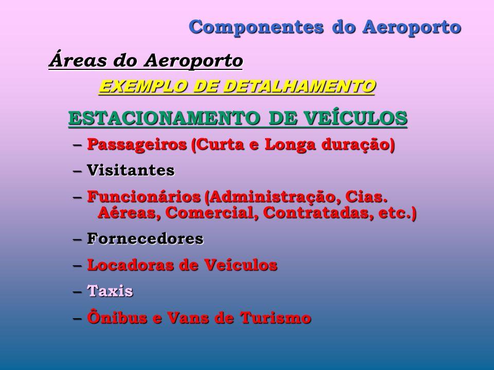 Componentes do Aeroporto Áreas do Aeroporto (ou do Sítio Aeroportuário) (3/3) – ETE Estação de Tratamento de Esgoto – Hangares de Manutenção de Aerona
