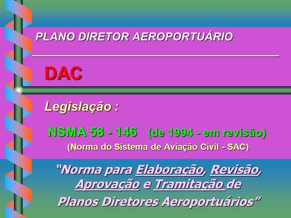 PLANO DIRETOR AEROPORTUÁRIO _______________________________________ PLANO DIRETOR AEROPORTUÁRIO _______________________________________ DAC DAC Legisl