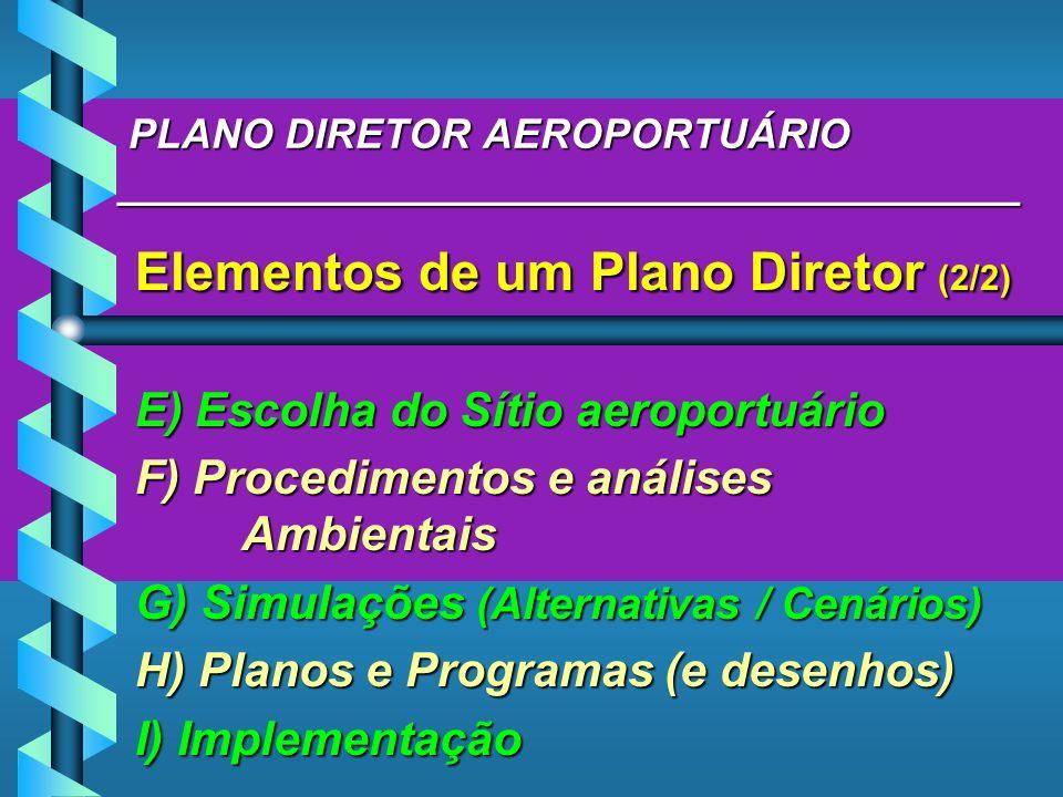 PLANO DIRETOR AEROPORTUÁRIO _______________________________________ PLANO DIRETOR AEROPORTUÁRIO _______________________________________ Elementos de u
