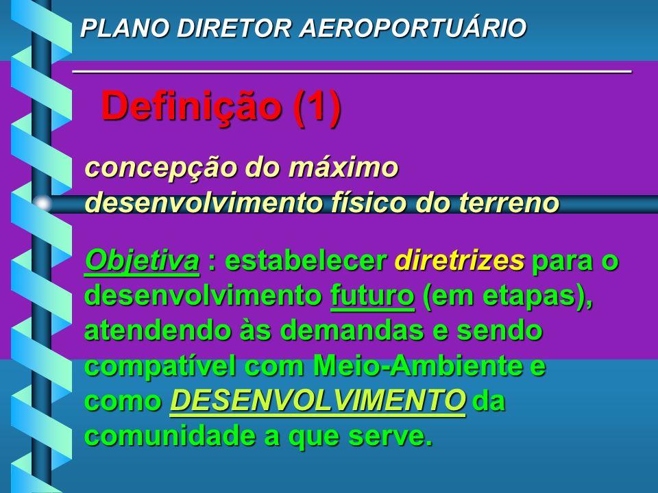 PLANO DIRETOR AEROPORTUÁRIO _______________________________________ PLANO DIRETOR AEROPORTUÁRIO _______________________________________ Definição (1)