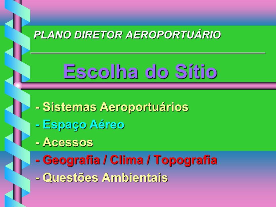 PLANO DIRETOR AEROPORTUÁRIO _______________________________________ PLANO DIRETOR AEROPORTUÁRIO _______________________________________ Escolha do Sít