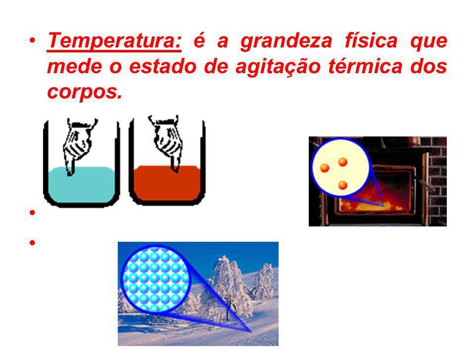 Termômetros As substâncias em geral dilatam-se (aumentam de volume) quando sofrem aumento de temperatura.