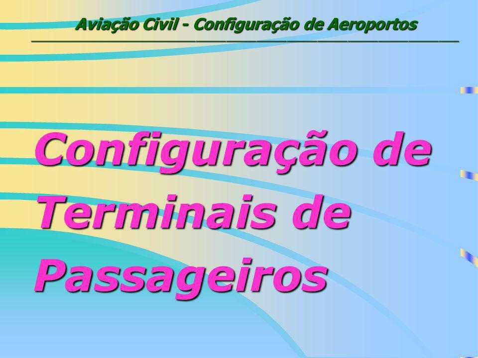 Aviação Civil - Configuração de Aeroportos _____________________________________________________________________________________ CONFIGURAÇÃO DE TERMINAIS 1.Linear 2.Gate Arrival 3.Satélite 4.Remote Concourse 5.Pier / Finger 6.Centralizados vs.