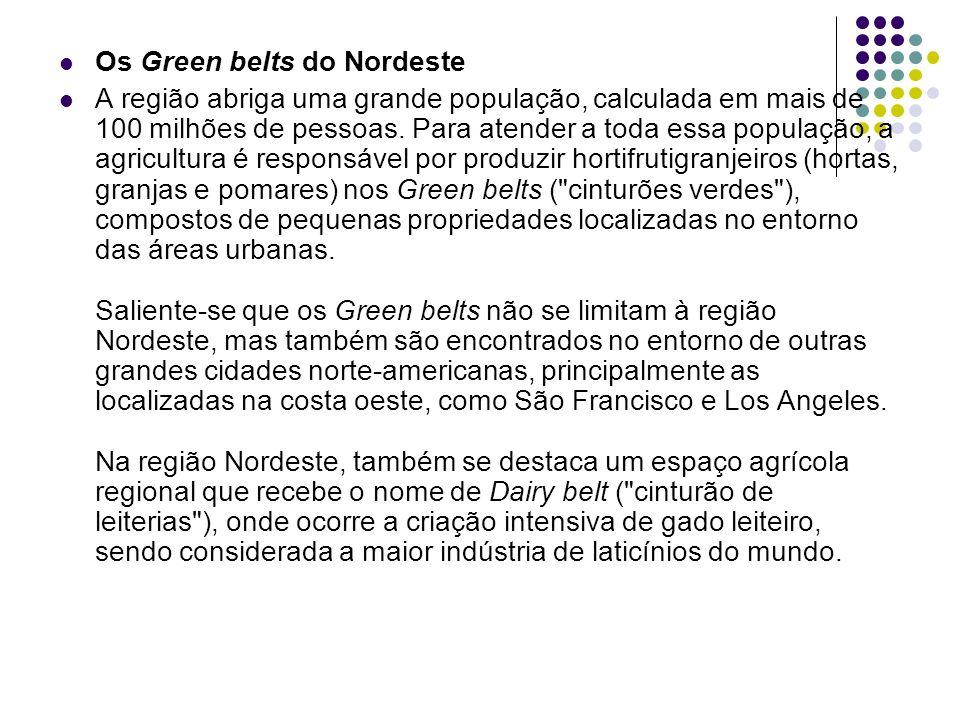 Os Green belts do Nordeste A região abriga uma grande população, calculada em mais de 100 milhões de pessoas. Para atender a toda essa população, a ag