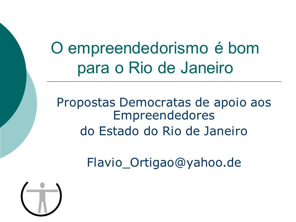 O empreendedorismo é bom para o Rio de Janeiro Propostas Democratas de apoio aos Empreendedores do Estado do Rio de Janeiro Flavio_Ortigao@yahoo.de