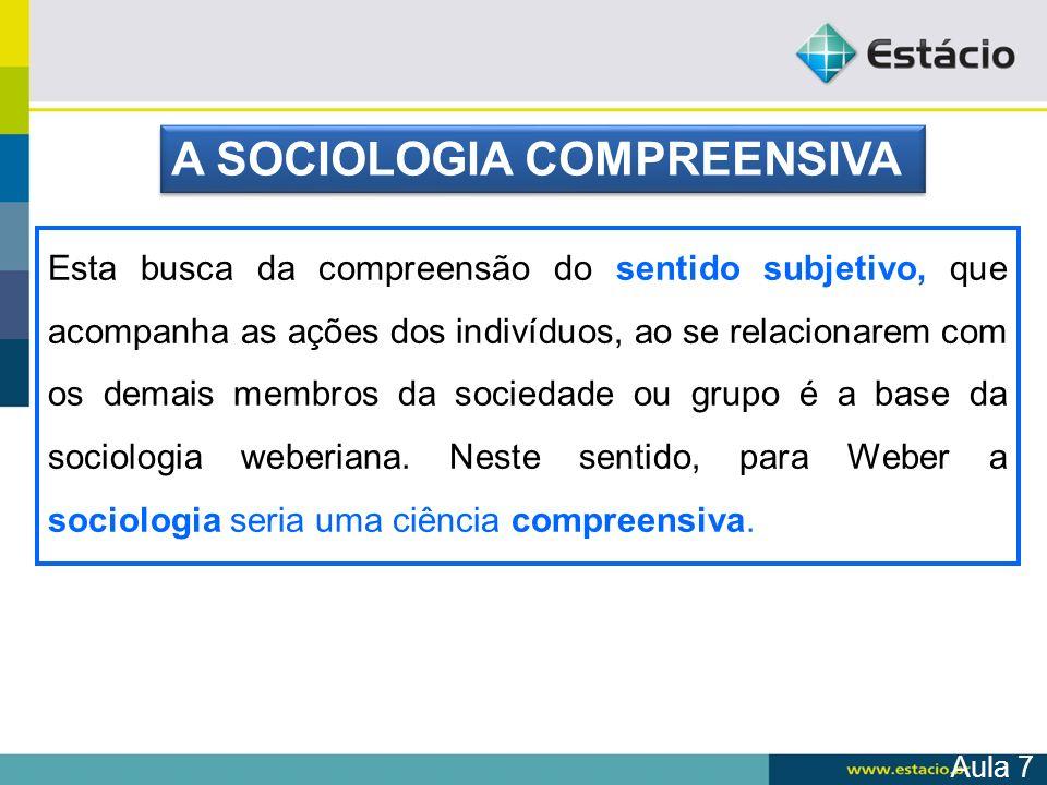A base da sociologia weberiana pode ser estruturada a partir do conceito de ação social, que segundo Weber seria todo tipo de conduta humana relacionada a outros indivíduos e dotada de um sentido subjetivamente elaborado.