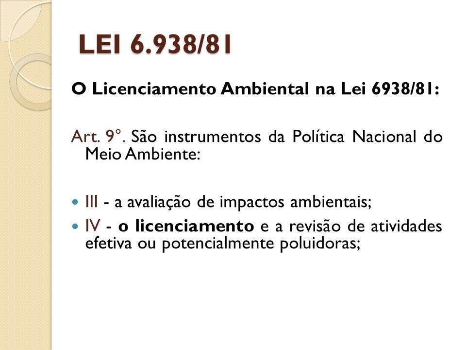 ESTUDO DE IMPACTO AMBIENTAL (EIA) E RELATÓRIO DE IMPACTO AMBIENTAL (RIMA) O EIA/RIMA é exigido pela Resolução CONAMA 01/86.