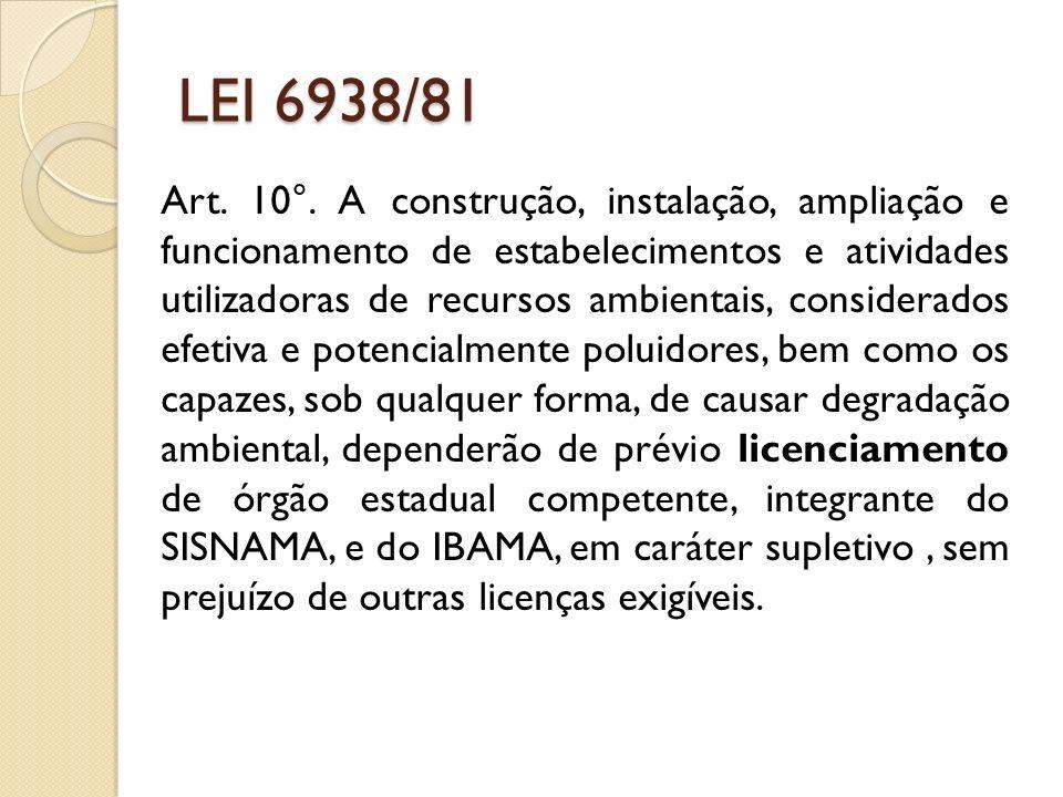 LICENCIAMENTO AMBIENTAL Licença de Operação (LO) A concessão da LO vai depender do cumprimento daquilo que foi examinado e deferido nas fases de LP e LI.