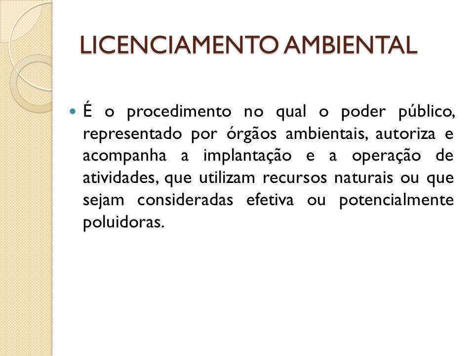 LICENCIAMENTO AMBIENTAL É obrigação do empreendedor, prevista em lei, buscar o licenciamento ambiental junto ao órgão competente, desde as etapas iniciais de seu planejamento e instalação até a sua efetiva operação.