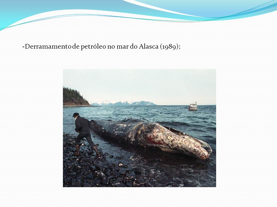 -Derramamento de petróleo no mar do Alasca (1989);