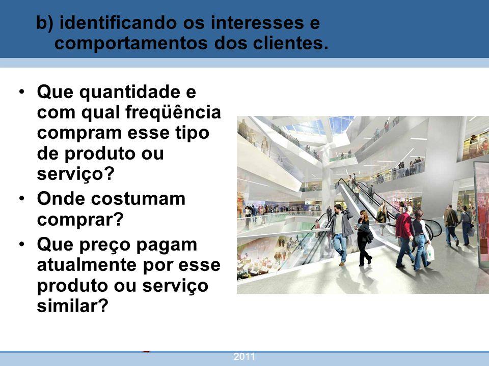 nivea@cordeiroeaureliano.com.br 2011 42 Que quantidade e com qual freqüência compram esse tipo de produto ou serviço? Onde costumam comprar? Que preço