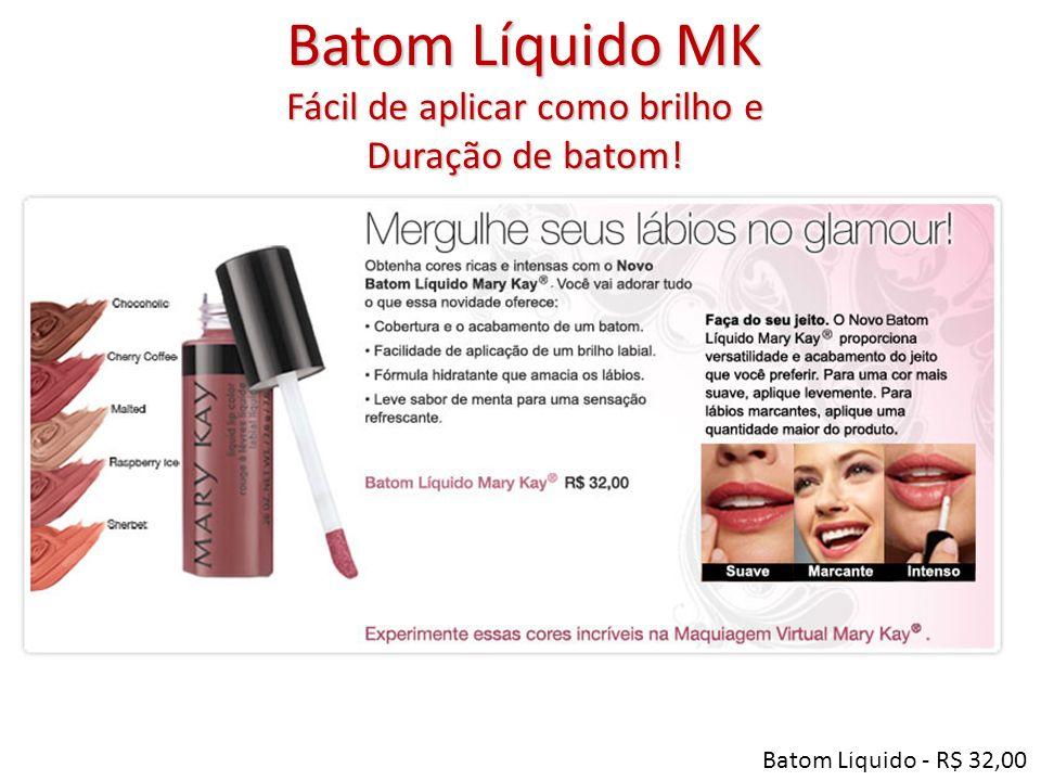 Batom Líquido MK Fácil de aplicar como brilho e Duração de batom! Batom Líquido - R$ 32,00