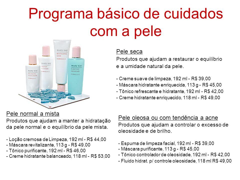 Programa básico de cuidados com a pele Pele seca Produtos que ajudam a restaurar o equilíbrio e a umidade natural da pele. - Creme suave de limpeza, 1