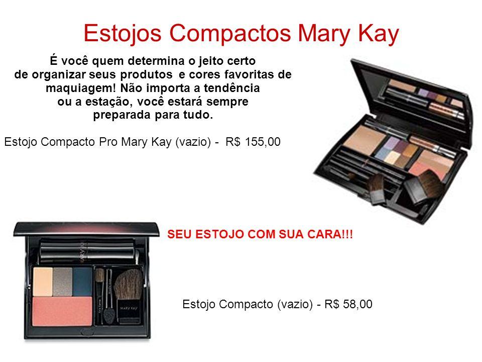 Estojos Compactos Mary Kay É você quem determina o jeito certo de organizar seus produtos e cores favoritas de maquiagem! Não importa a tendência ou a
