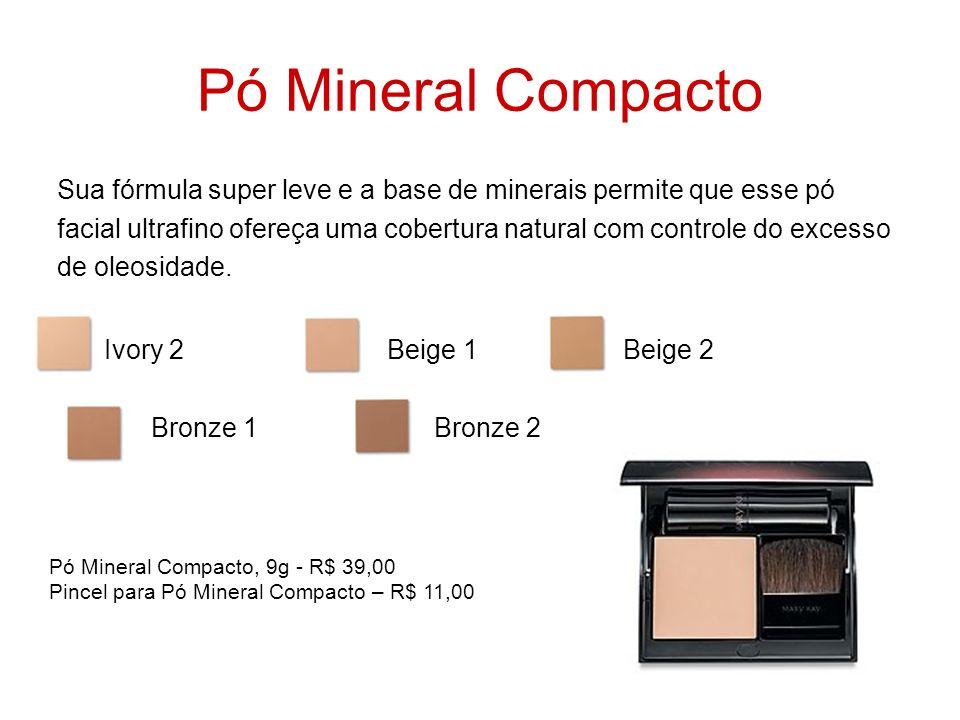 Pó Mineral Compacto Sua fórmula super leve e a base de minerais permite que esse pó facial ultrafino ofereça uma cobertura natural com controle do exc