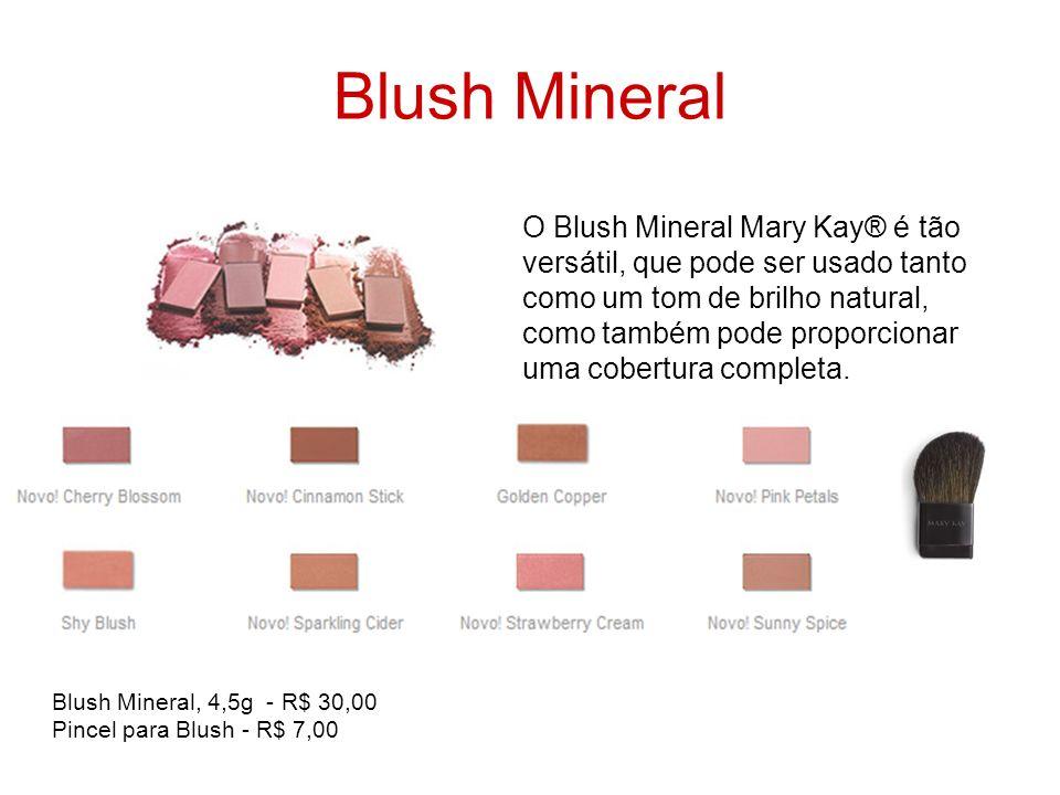 Blush Mineral O Blush Mineral Mary Kay® é tão versátil, que pode ser usado tanto como um tom de brilho natural, como também pode proporcionar uma cobe
