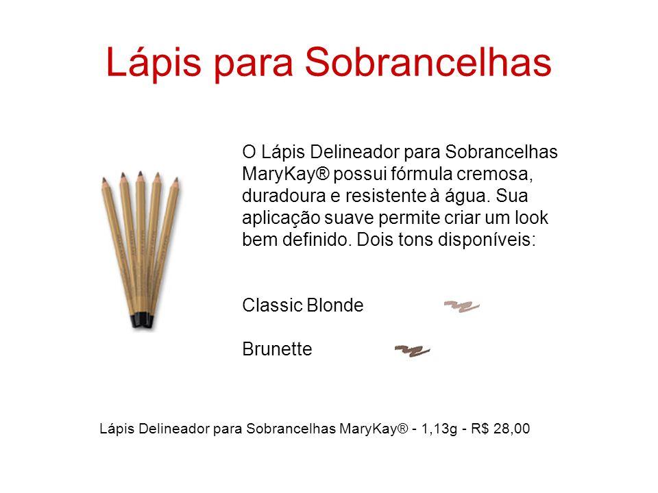 Lápis para Sobrancelhas O Lápis Delineador para Sobrancelhas MaryKay® possui fórmula cremosa, duradoura e resistente à água. Sua aplicação suave permi