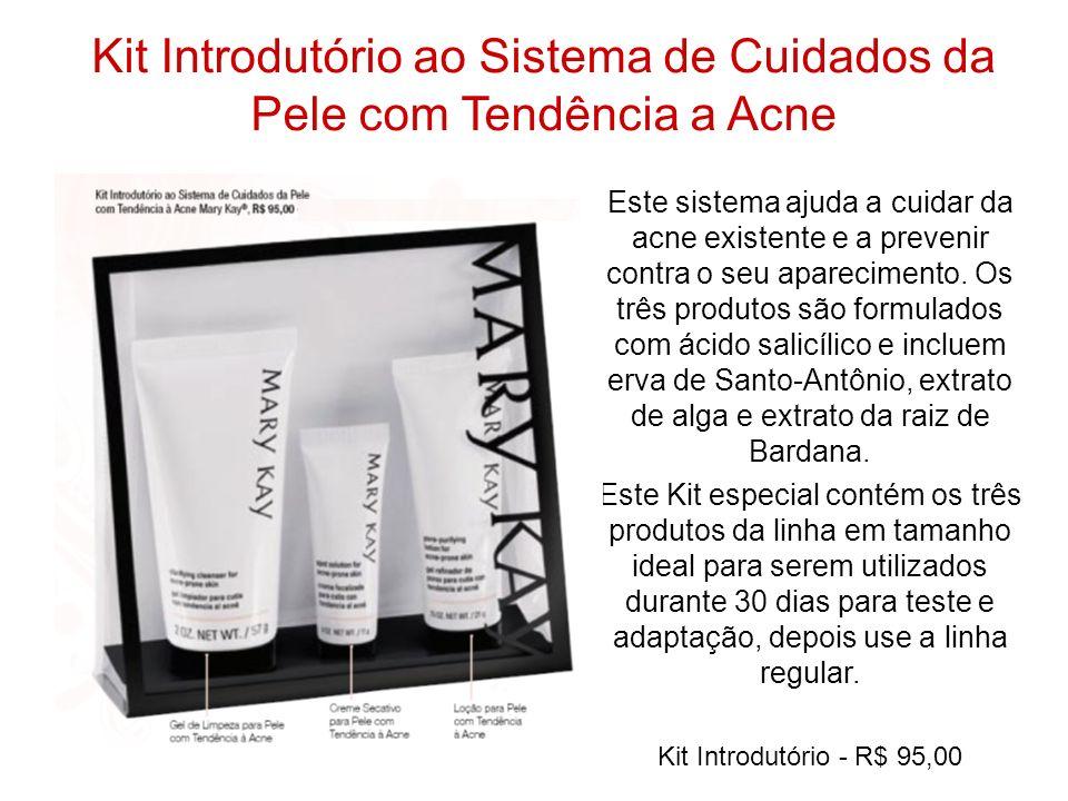 Kit Introdutório ao Sistema de Cuidados da Pele com Tendência a Acne Este sistema ajuda a cuidar da acne existente e a prevenir contra o seu aparecime