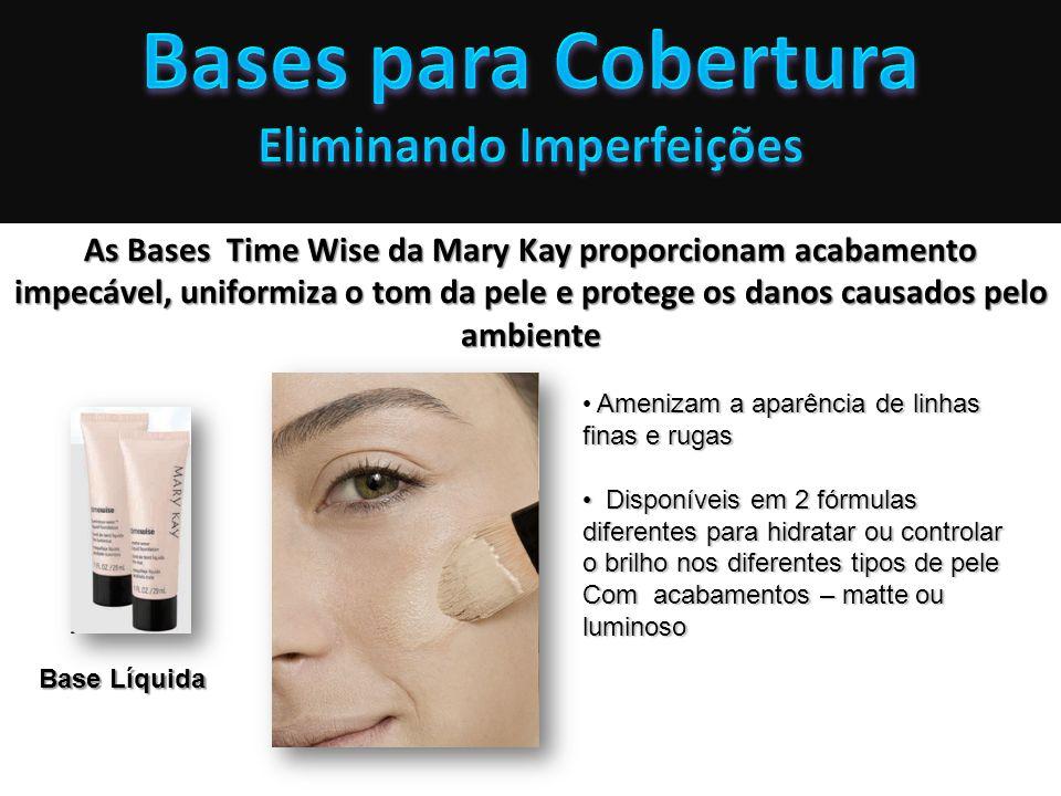 As Bases Time Wise da Mary Kay proporcionam acabamento impecável, uniformiza o tom da pele e protege os danos causados pelo ambiente Base Líquida Base
