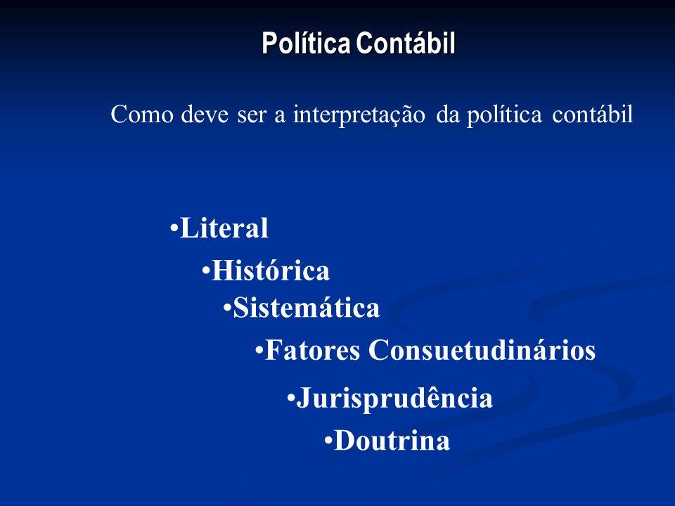 Política Contábil Princípios fundamentais de contabilidade Resolução CFC 750/93