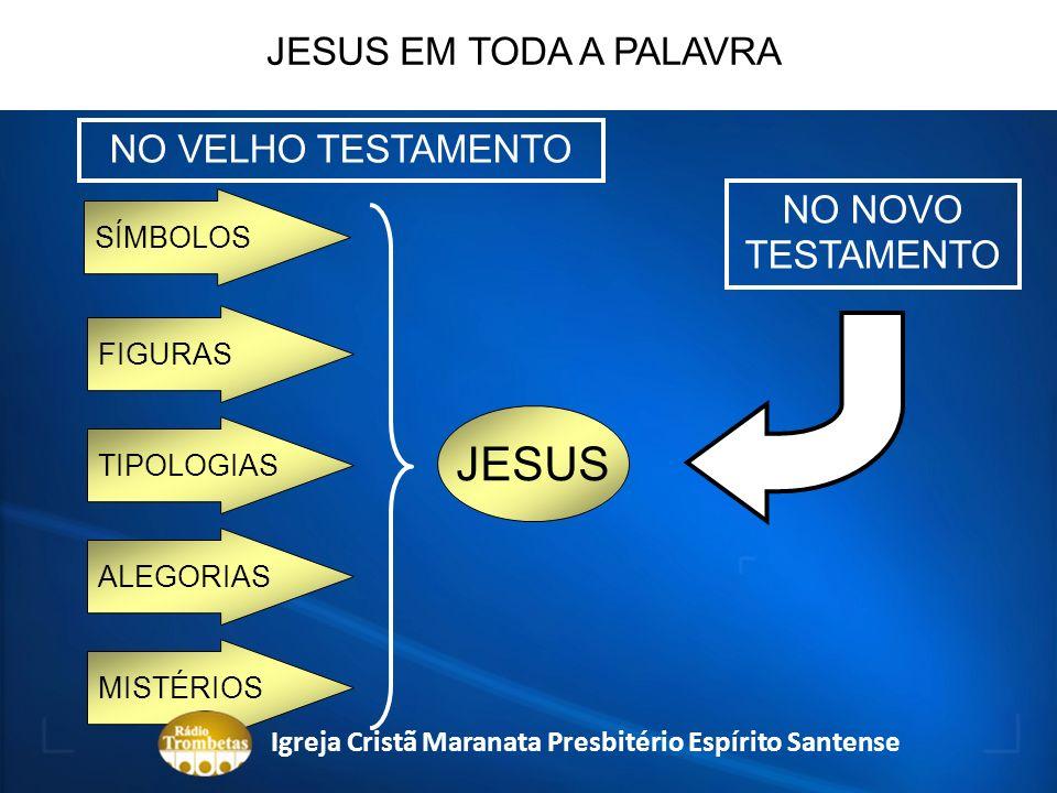 SÍMBOLOS JESUS JESUS EM TODA A PALAVRA NO VELHO TESTAMENTO NO NOVO TESTAMENTO FIGURAS TIPOLOGIAS ALEGORIAS MISTÉRIOS Igreja Cristã Maranata Presbitéri