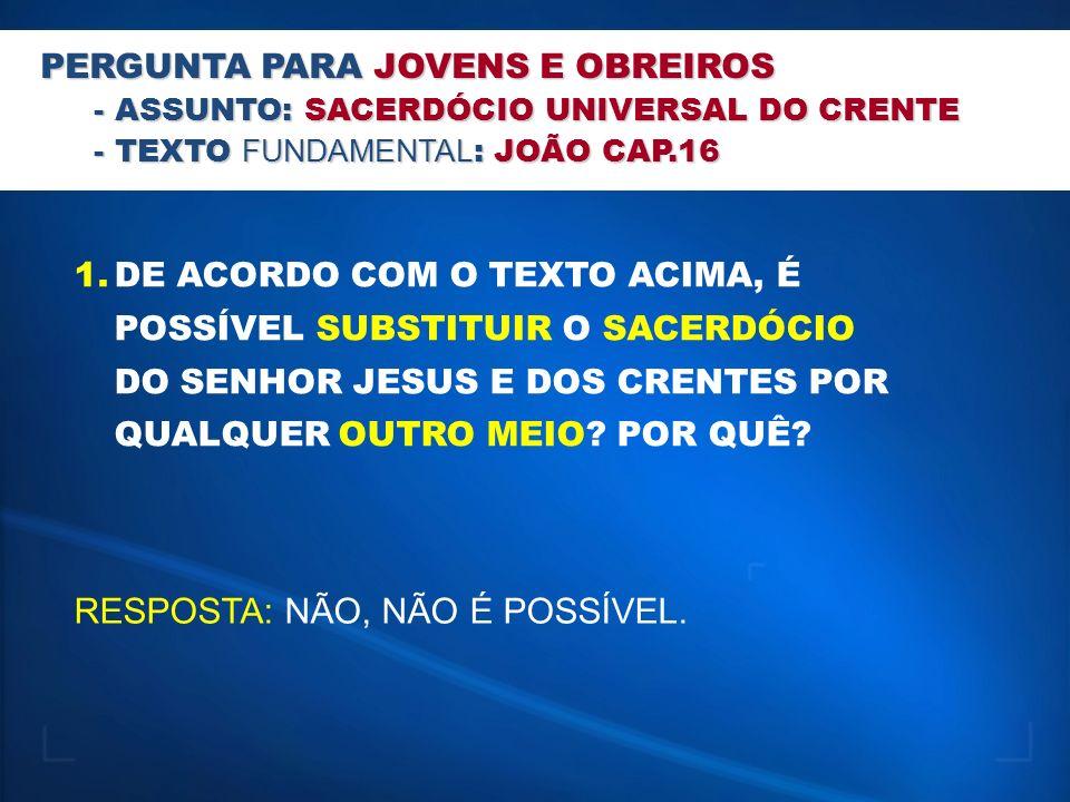 SIGNIFICADO BÍBLICO DE: - SACERDOTE: HOMEM DA TRIBO DE LEVI QUE SERVIA DE INTERMEDIÁRIO ENTRE DEUS E O POVO.