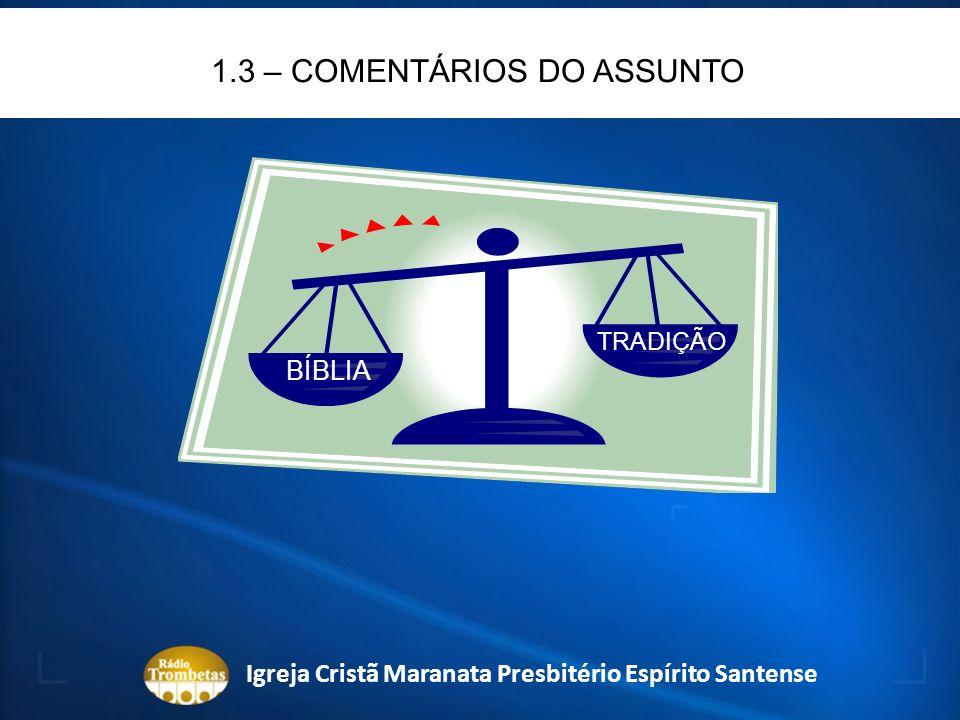 1.3 – COMENTÁRIOS DO ASSUNTO REFORMADOR: REFORMAR UM SISTEMA RELIGIOSO.