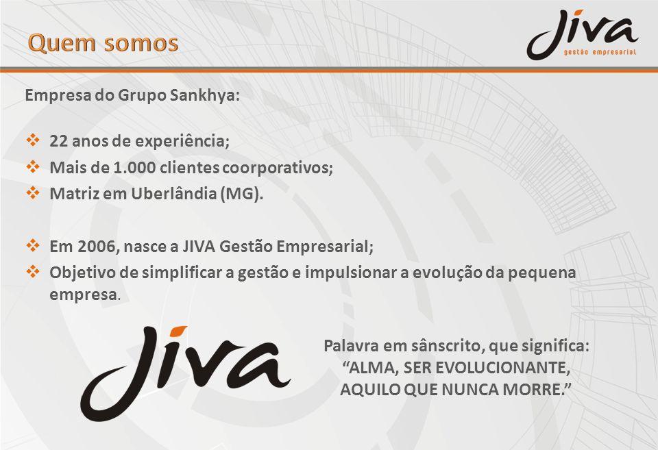 Empresa do Grupo Sankhya: 22 anos de experiência; Mais de 1.000 clientes coorporativos; Matriz em Uberlândia (MG). Em 2006, nasce a JIVA Gestão Empres
