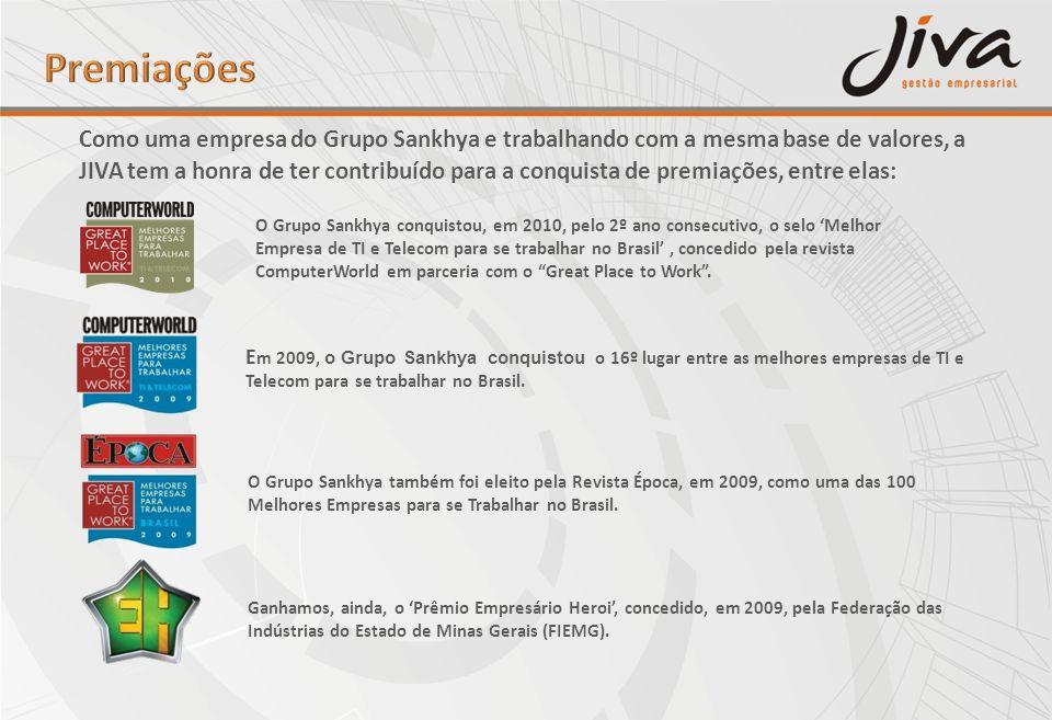 O Grupo Sankhya também foi eleito pela Revista Época, em 2009, como uma das 100 Melhores Empresas para se Trabalhar no Brasil. E m 2009, o Grupo Sankh