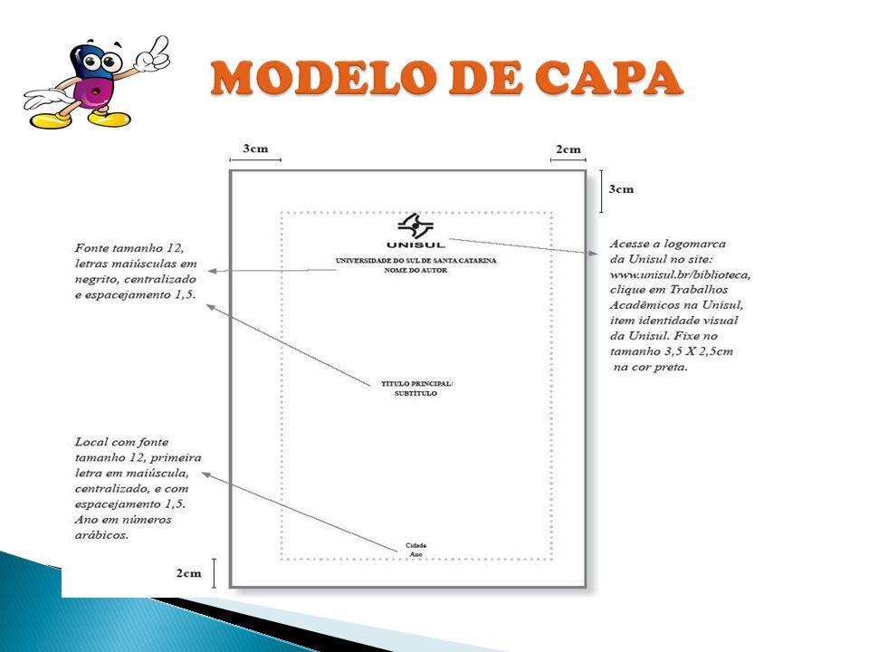 CAPA FOLHA DE ROSTO OBJETIVO JUSTIFICATIVA 1º E 2º CAPITULOS REFERÊNCIAS BIBLIOGRÁFICAS
