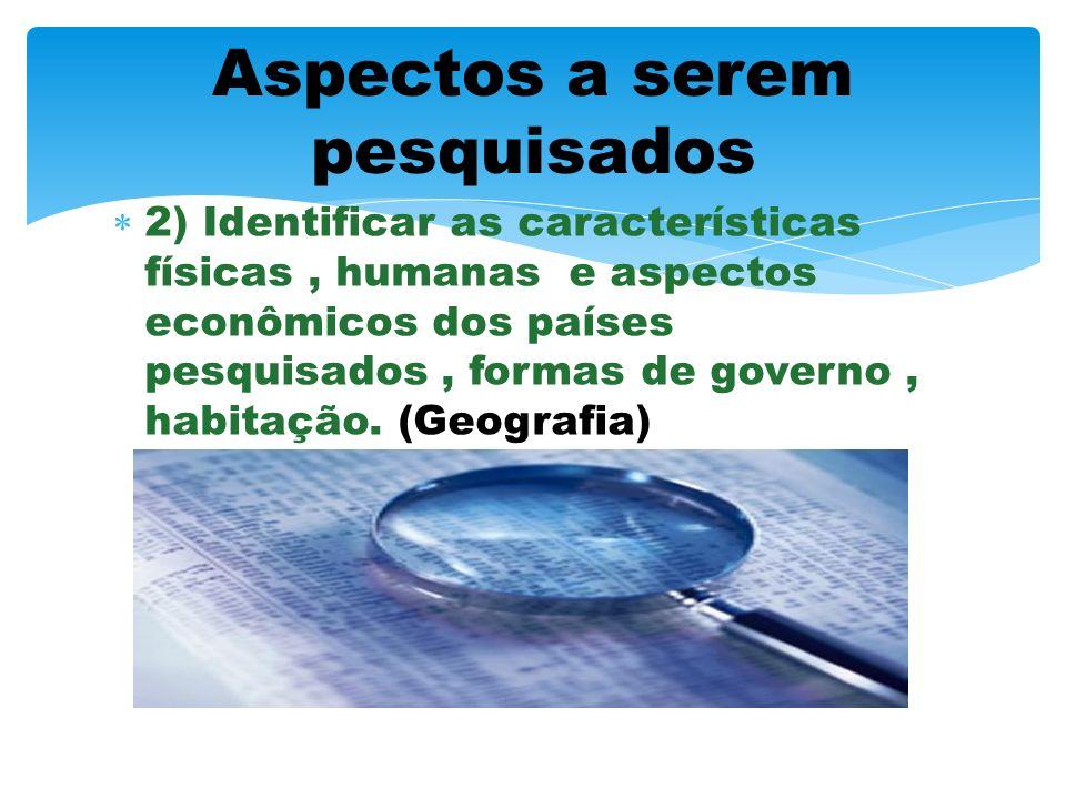 1) Pesquisar o tronco linguistico semântico e a sua influência nos países envolvidos. (Português e Língua Estrangeira Moderna) Aspectos a serem pesqui