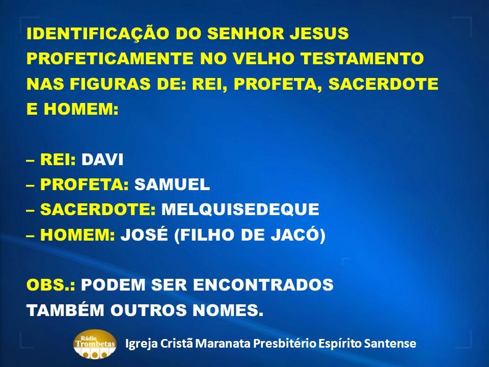RESPOSTA 1: SIM, É POSSÍVEL IDENTIFICAR UM PROFETA QUE SE ASSEMELHE AO SENHOR JESUS COMO PROFETA: POR EXEMPLO, O PROFETA ELIAS.