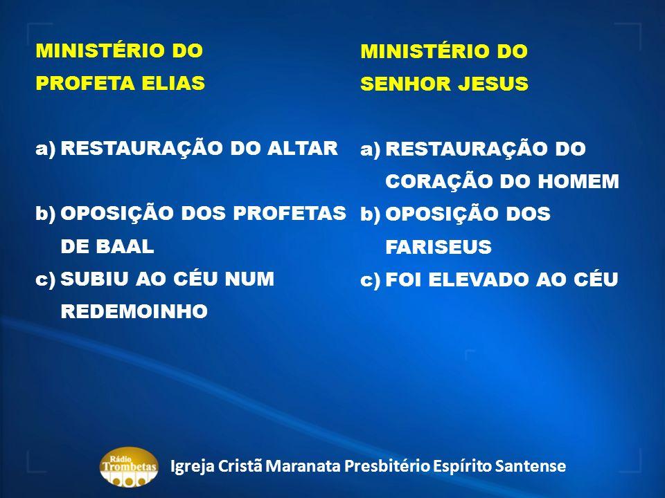 APLICAÇÃO PROFÉTICA -BATISMO COM O ESPÍRITO SANTO -OPOSIÇÕES -O ARREBATAMENTO Igreja Cristã Maranata Presbitério Espírito Santense
