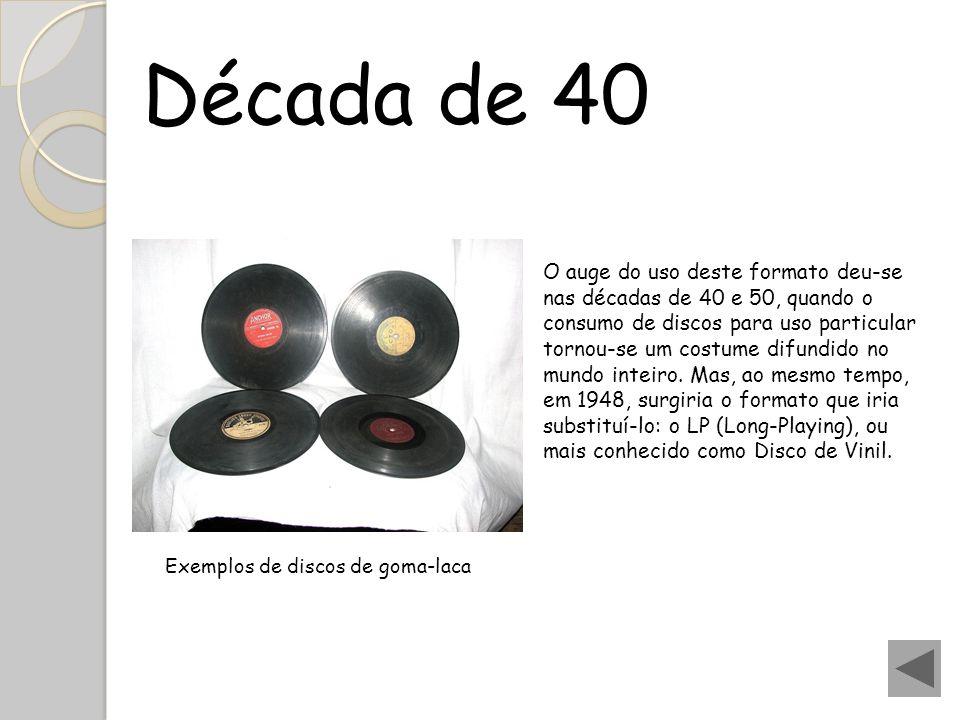 O auge do uso deste formato deu-se nas décadas de 40 e 50, quando o consumo de discos para uso particular tornou-se um costume difundido no mundo inte