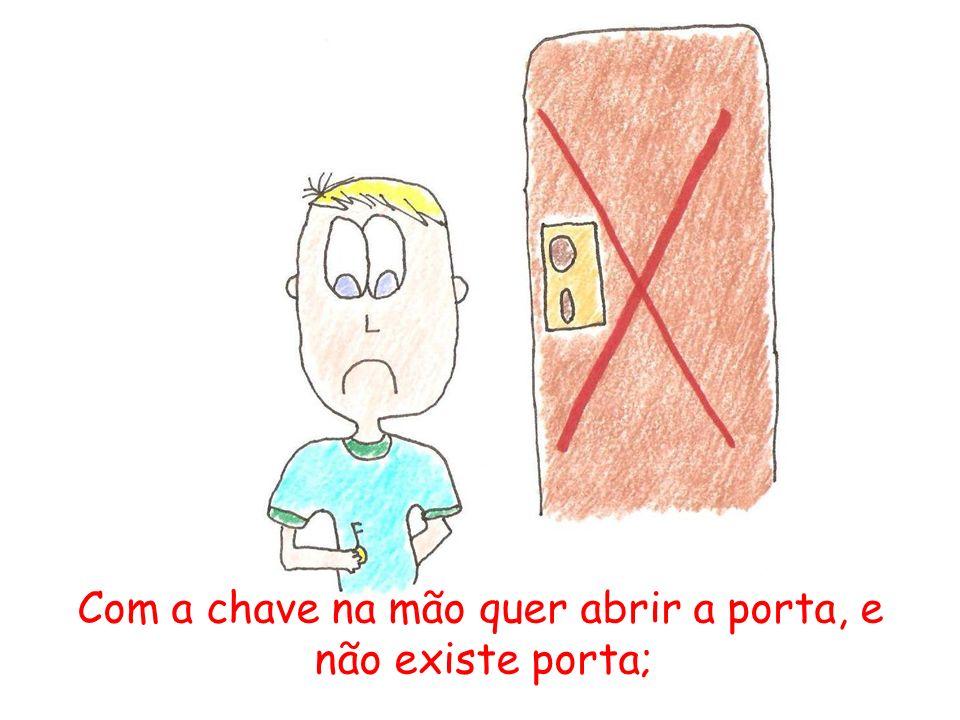 Com a chave na mão quer abrir a porta, e não adianta não existe porta;
