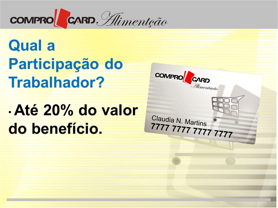 Tipos de Participação no PAT Empresa Beneficiária: oferece o benefício aos seus trabalhadores.