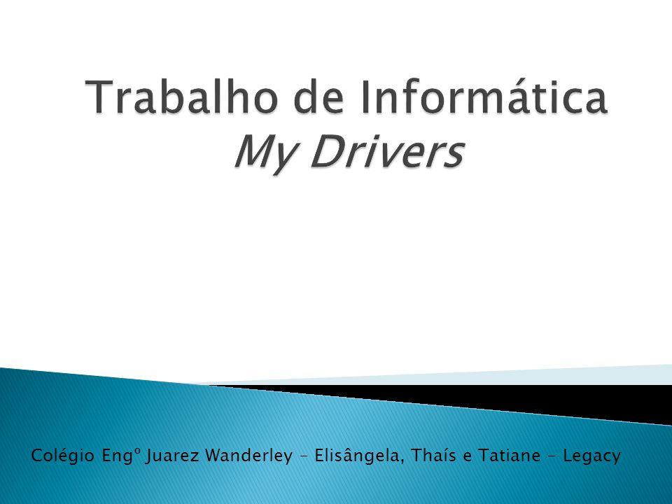 Podemos definir um driver como uma ponte de comunicação entre determinado dispositivo e a central de processamento de um computador.