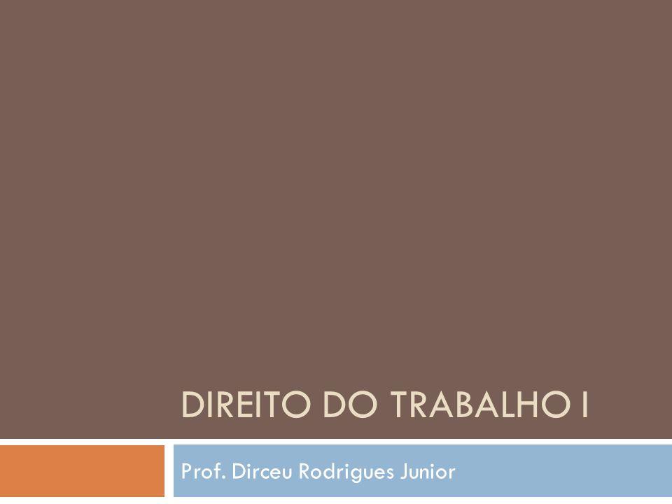 DIREITO DO TRABALHO I Prof. Dirceu Rodrigues Junior