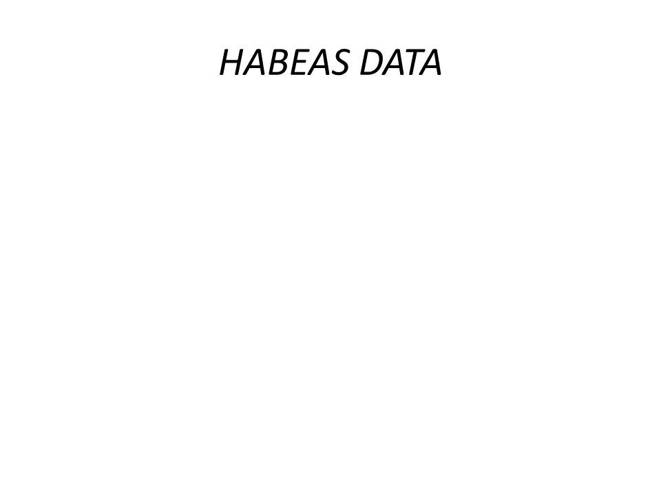 CABIMENTO DO HD Criadas pela Constituição/88: - Conhecimento das informações pessoais; -possibilidade de retificação de informações errôneas que constem dos registros de dados; Criada pela lei -de complementação dos registros insuficientes ou incompletos nos bancos de dados;