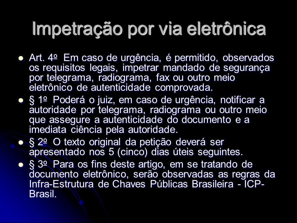 Impetração por via eletrônica Art.