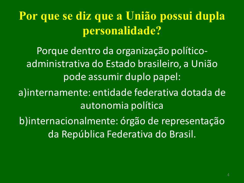 Poder Executivo O Poder Executivo, no âmbito federal, é exercido pelo Presidente da República, auxiliado pelos Ministros de Estado.