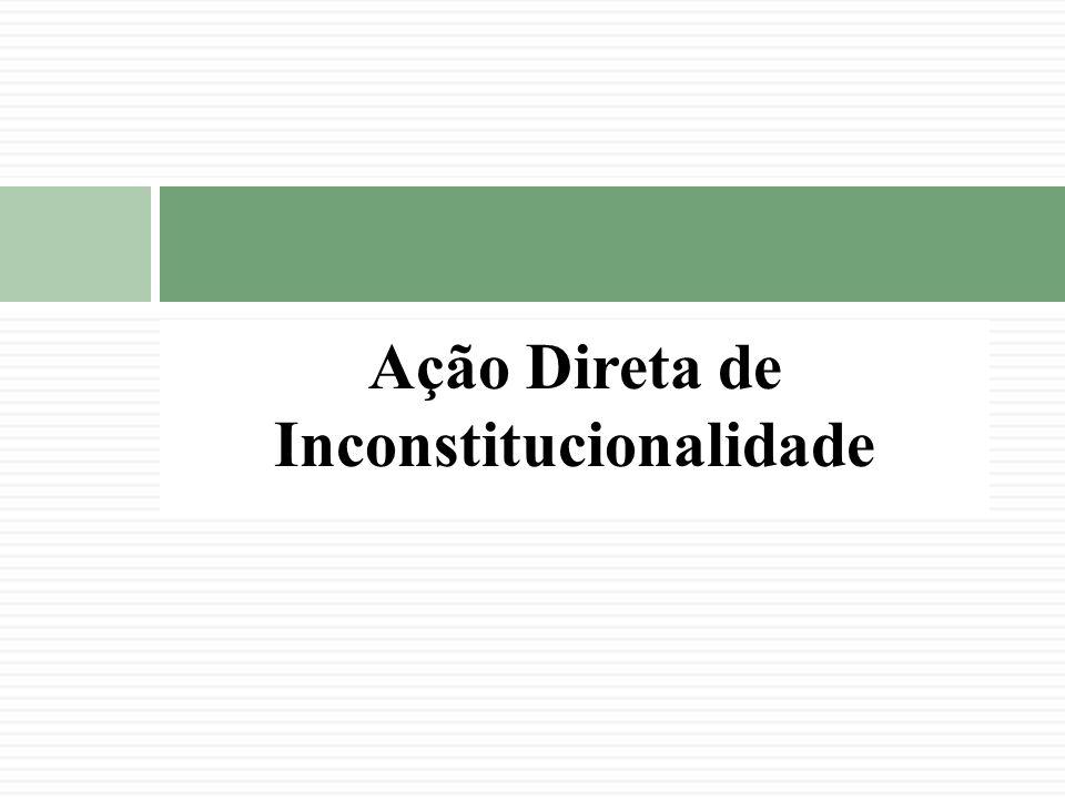 Ação Direta de Inconstitucionalidade