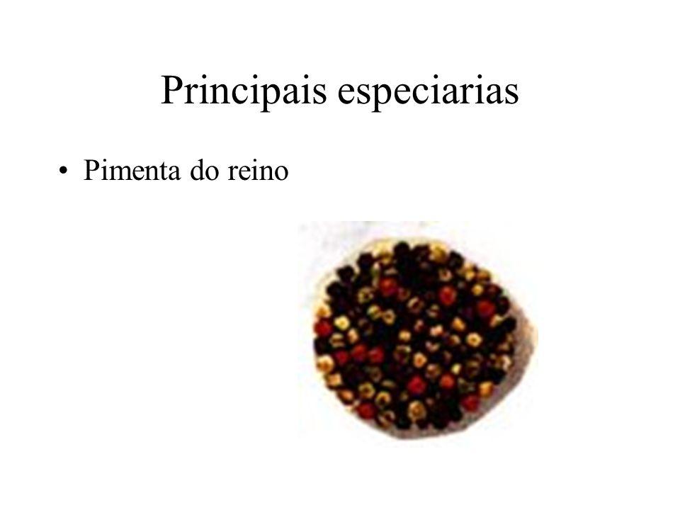 Principais especiarias Noz Moscada