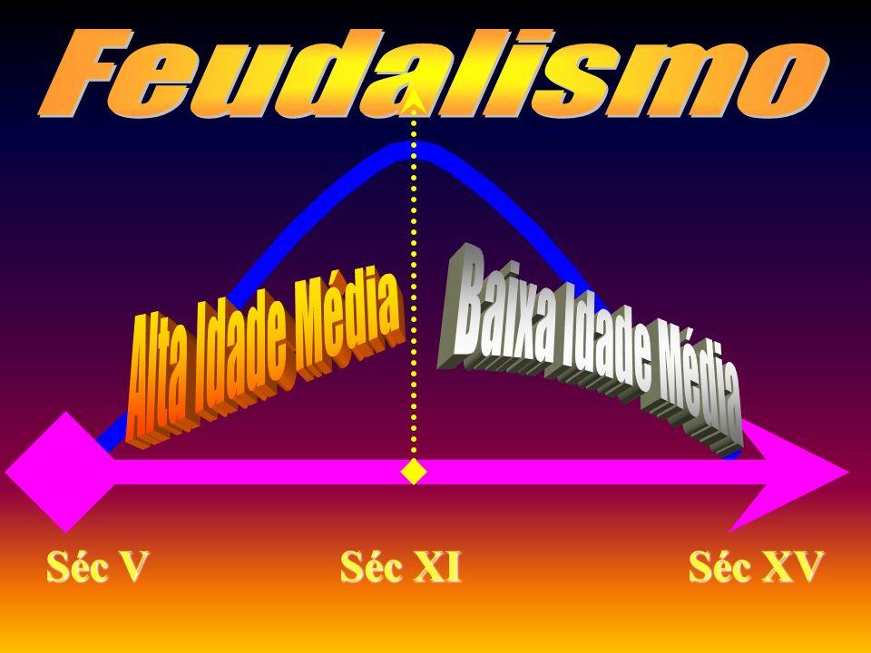 FEUDALISMO CONCEITO: Modo de Produção que vigorou na Europa Ocidental durante a Idade Média e que se caracteriza pelas relações servis de produção. A