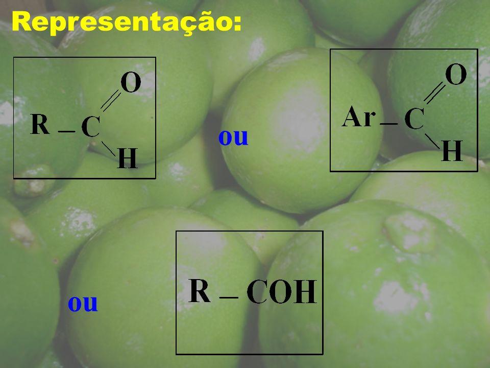 Etanal ou Aldeído acético (acetaldeído) Metanal ou Aldeído fórmico (formaldeído) Glioxal etanodial ressaca