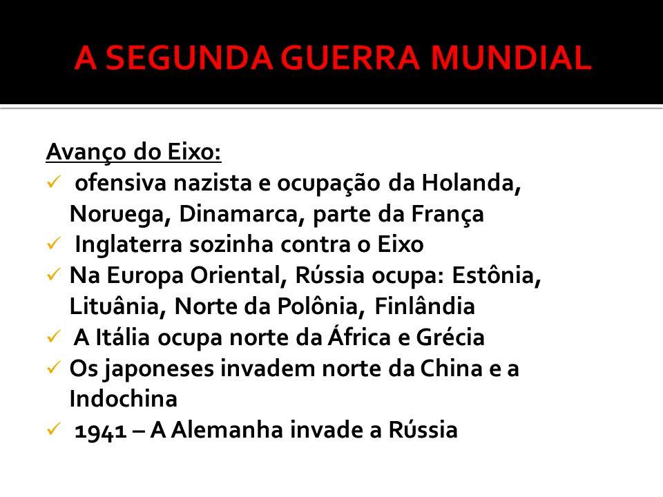 FASES DA GUERRA: 1ª Fase - ( 1939 – 1942)