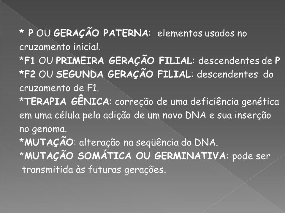 *CARIÓTIPO: todo o complemento cromossômico de uma pessoa ou de uma célula.