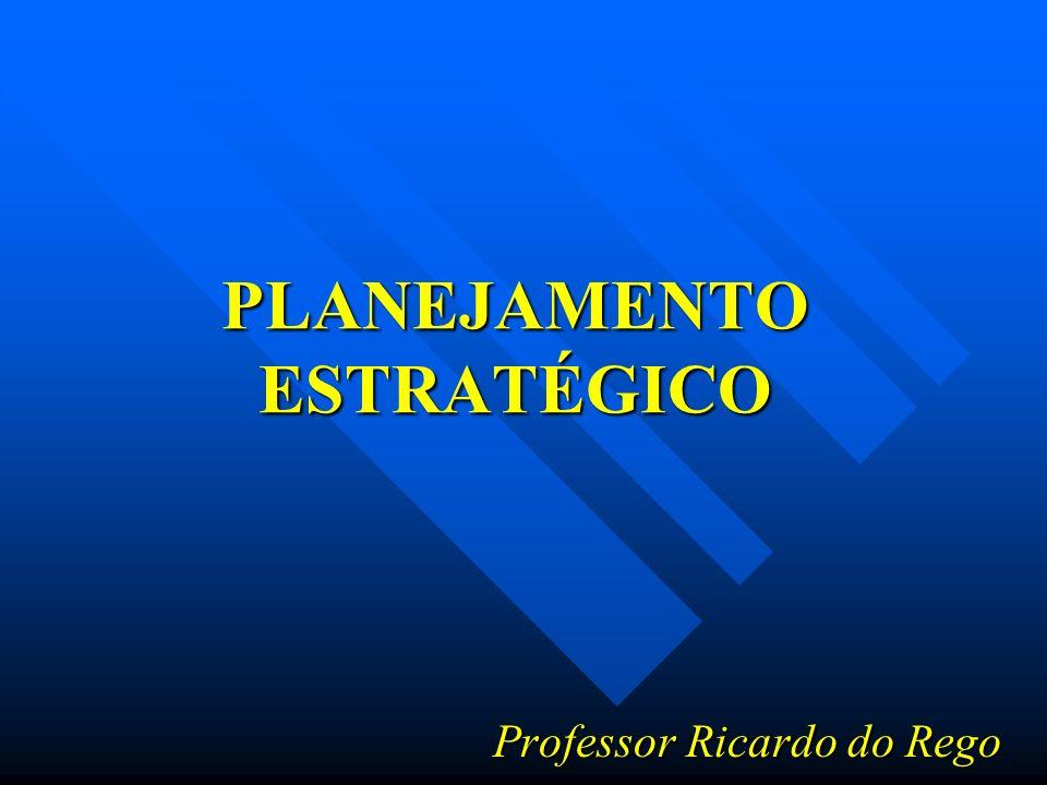 PLANEJAMENTO ESTRATÉGICO Professor Ricardo do Rego