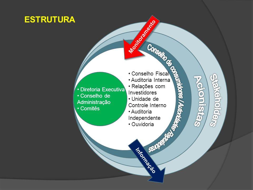 GOVERNANÇA CORPORATIVA NO BRASIL Privatizações (primeiras experiências) Aumentou o investimento estrangeiro Criação de Agências Reguladoras Conduta esperada do conselho administrativo Valorização das empresas na Bolsa de Valores